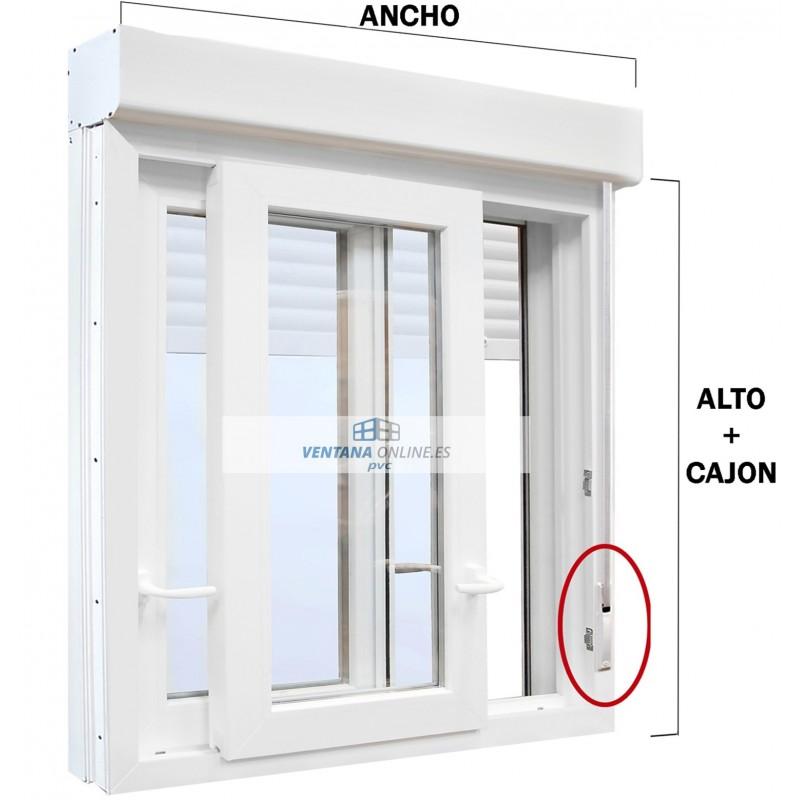 ventana corredera pvc