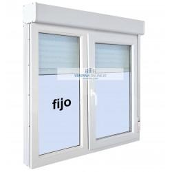 FIJO + VENTANA OSCILO BATIENTE 1 HOJA  DE PVC O ALUMINIO